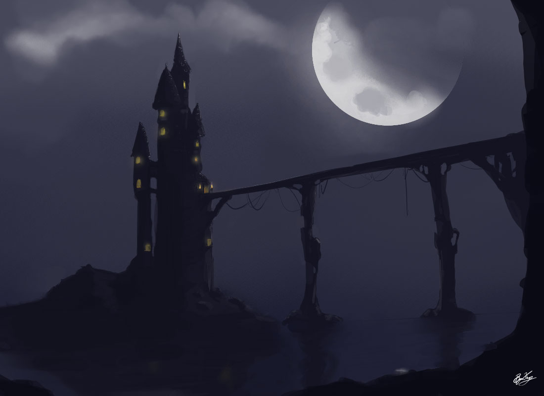 Spooky Castle Speedpaint 171 Reflection Design